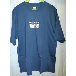 T-shirt azul Binary Daya XL