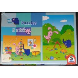 Puzzle Coelho e Elefante