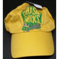 Boné Brasil Rocks 2010 Amarelo