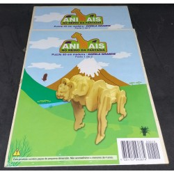 Puzzle 3D e Madeira Gorila...