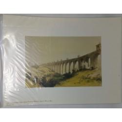 Gravura Aqueduto da Águas...