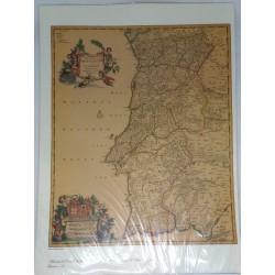 Gravura Mapa Portugal