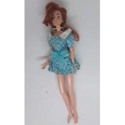 Boneca vestido azul curto