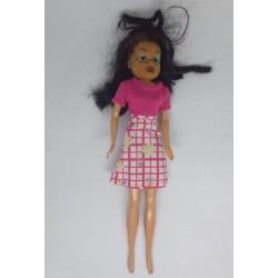 Boneca vestido rosa e...