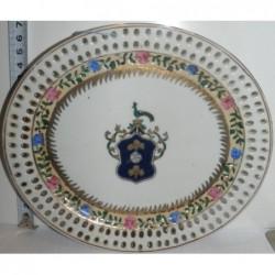 Prato Decorativo com Brazão...