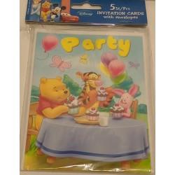 5 convites para festa...
