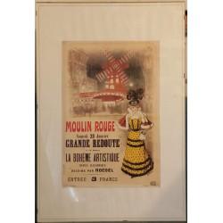 Quadro Moulin Rouge emoldurado